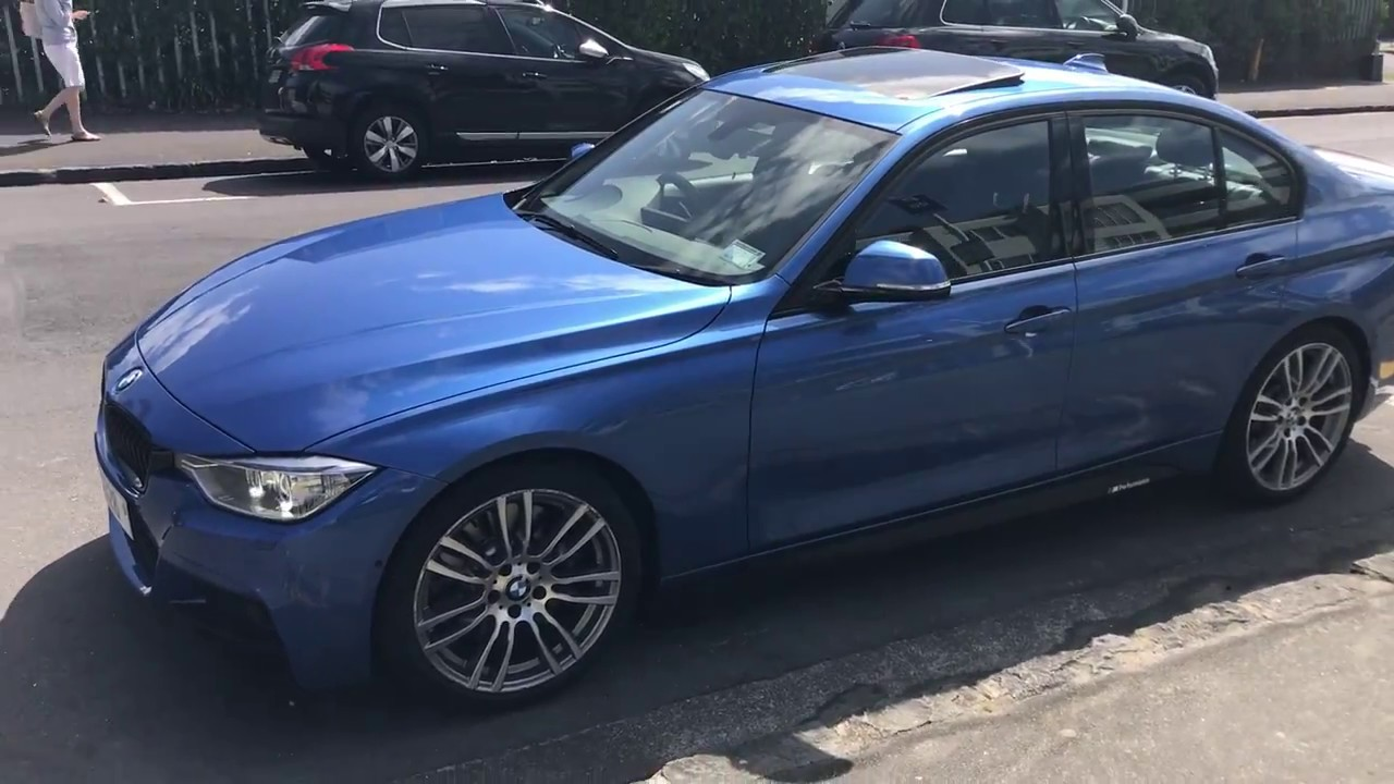 2012 BMW 328i M Sport Saloon Estoril Blue F30  YouTube