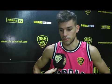 Pedro Barral post Obras Basket 75-101 San Lorenzo (21-10-2016)