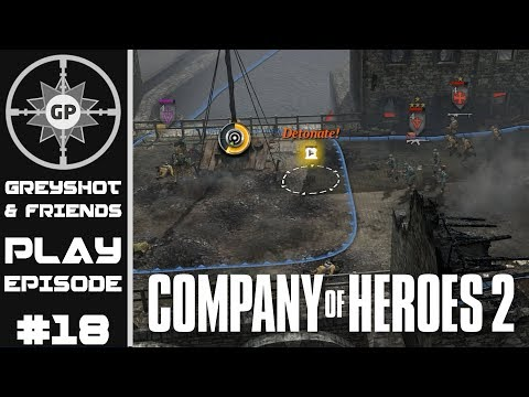 Greyshot & Friends Play - Company of Heroes 2 - Literally the Dumbest Thing