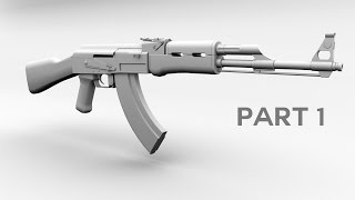 3D AK 47 Model tutorial, Maya part 1