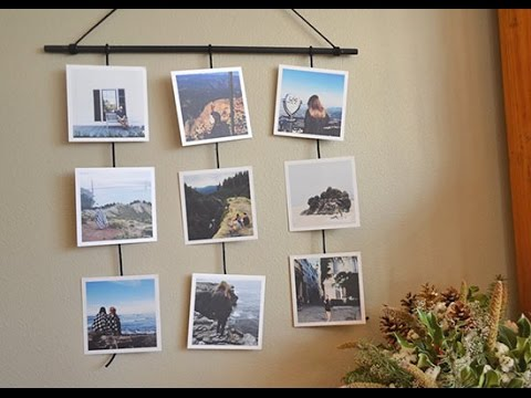 diy picture perfect photo wall hanging youtube. Black Bedroom Furniture Sets. Home Design Ideas