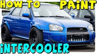 DIY | How to Paint Intercooler | Designs, Teeth, Logos, Etc...