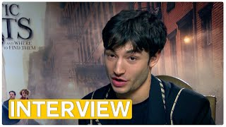 Fantastic Beasts - Does Ezra Miller have a magic backpack? | exclusive interview (2016)