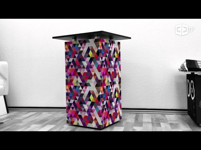 Mobiles Messemöbel: Würfelsystem mit Gestaltungsfreiheit