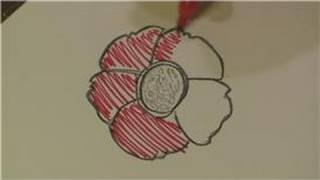Drawing Plants & Flowers : How to Draw Red Flowers