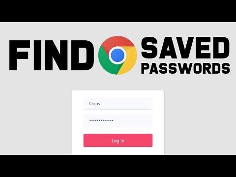 Find Saved Passwords - Google Chrome 2019 (Quick tutorial