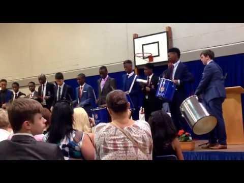 Woolwich Polytechnic School 2015 year 11 graduation samba band performance