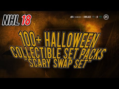 NHL 18 HUT Pack Opening | 100+ Halloween Collectible Packs 'Scary Swap Set' Experiment
