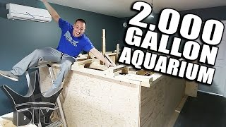 MY 2,000 GALLON AQUARIUM!!