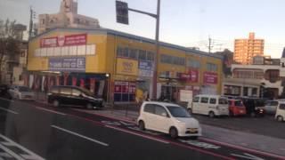 高速バス「桜島」号 車窓[1/2]鹿児島中央→高速帖佐/ 西鉄 鹿中央1640発