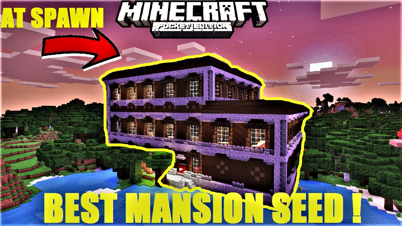 Minecraft pe best mansion at spawn seed ever diamond blacksmith mcpe 1 1