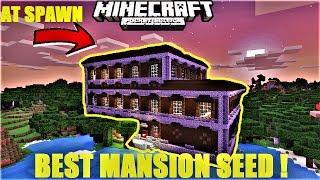 Minecraft PE - BEST MANSION AT SPAWN SEED EVER ! DIAMOND BLACKSMITH | MCPE 1.1