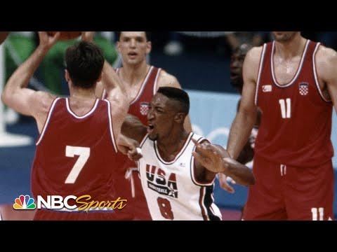 Michael Jordan and Scottie Pippen CLAMP Toni Kukoc at 1992 Olympics   NBC Sports