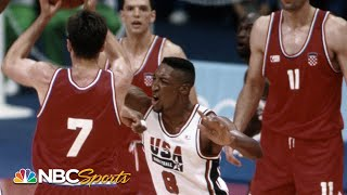 Michael Jordan and Scottie Pippen CLAMP Toni Kukoc at 1992 Olympics | NBC Sports