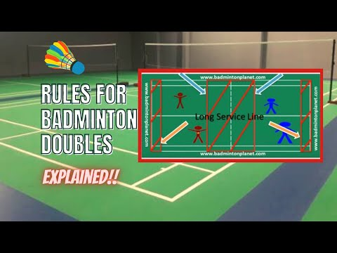 Rules for badminton doubles youtube for Table tennis serving rules