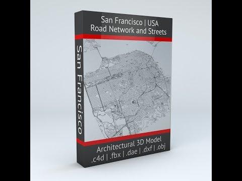 San Francisco Road Network Architectural 3D Model