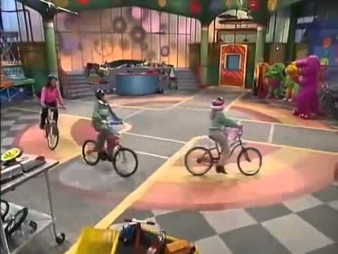 Barney Riding On a Bike