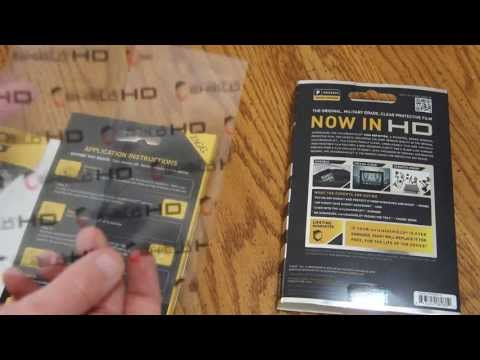 New Zagg InvisibleSHIELD HD for Apple iPhone 5  - Unboxing