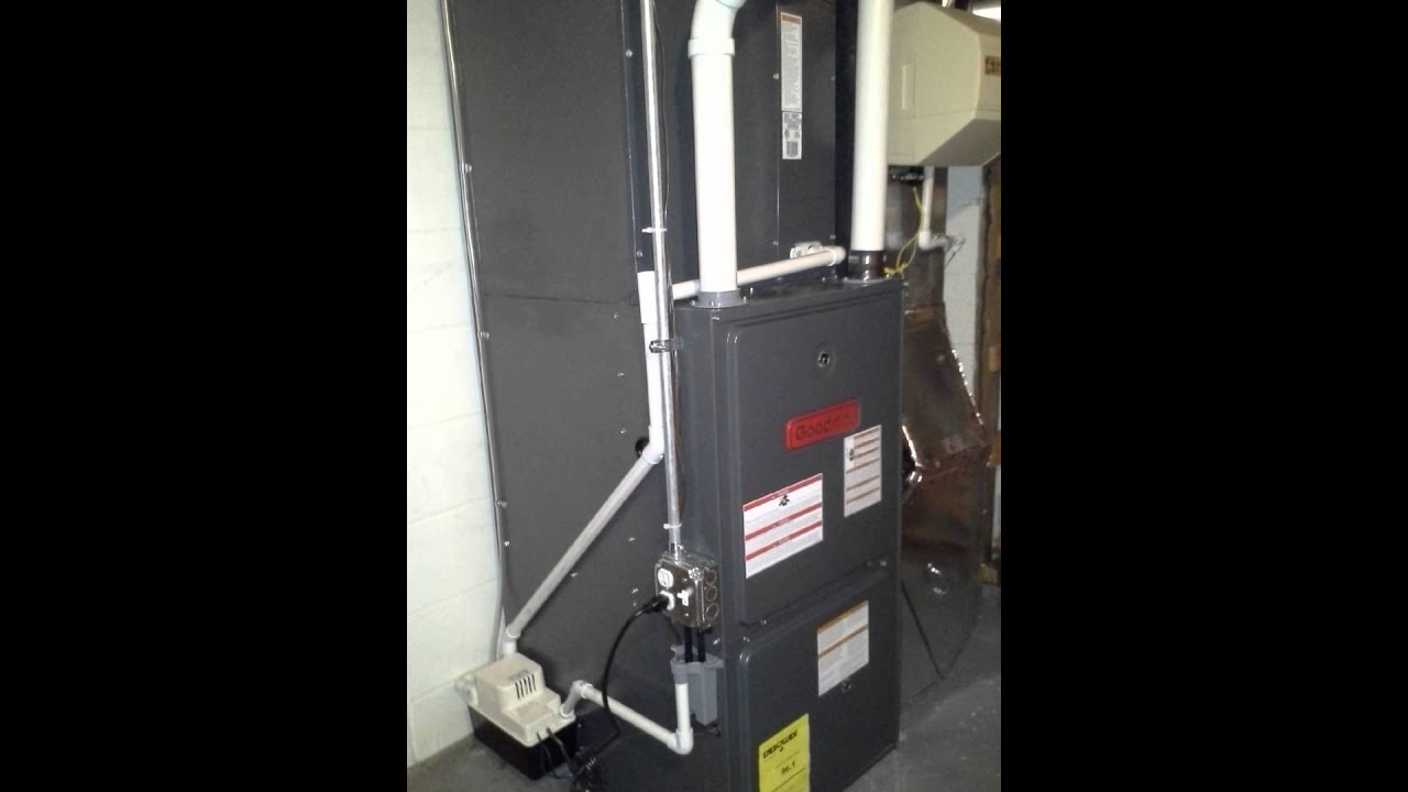 GOODMAN High Efficiency Gas Furnace Installation - YouTube