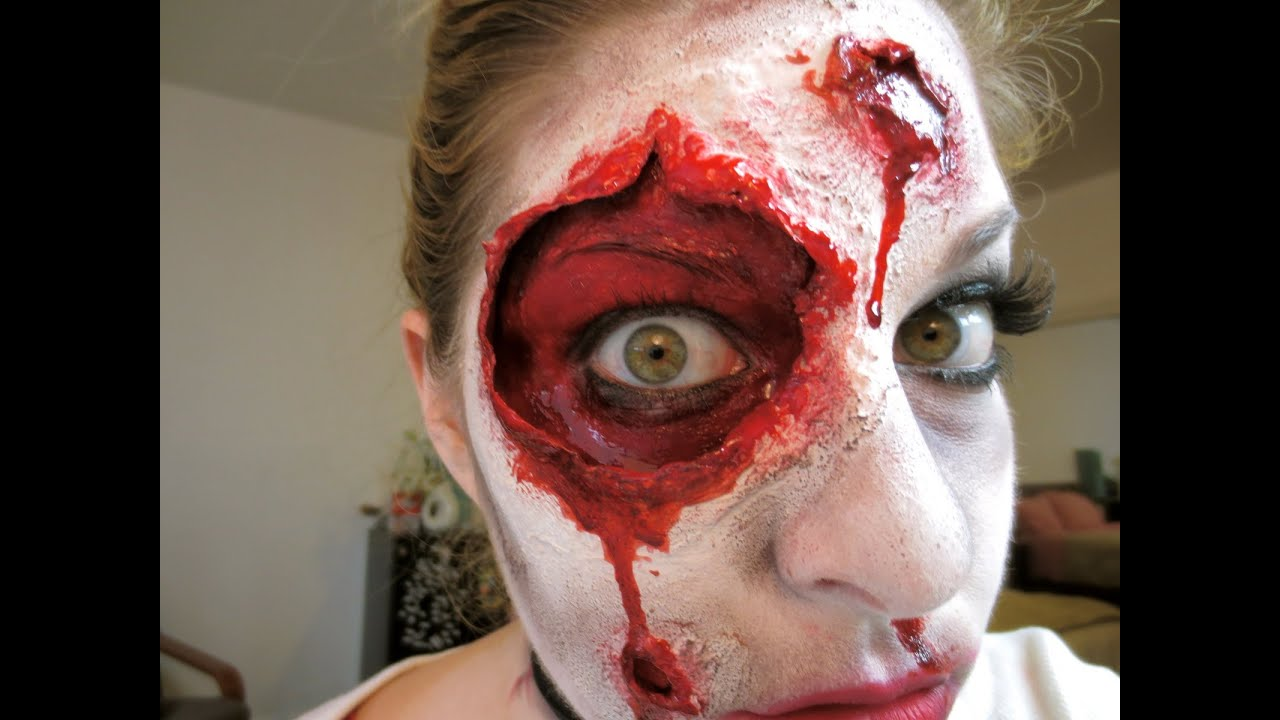 Back For Revenge ☠ A Gory Halloween Makeup Tutorial Youtube