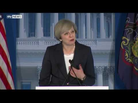 Theresa May speech in Philadelphia