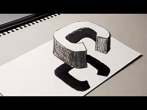 how to draw letters in 3d how to drawing 3d floating letter quot c quot 3d trick for 24778
