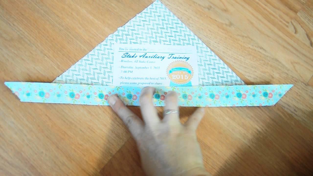 Scrapbook paper envelope - Envelope For Quarter Sheet Invitation From Scrapbook Paper