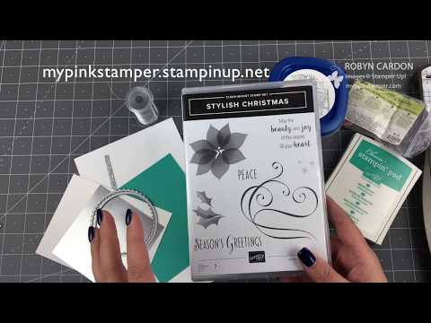 Stampin' Up! Stylish Christmas Bermuda & Silver Card - EPISODE SIX HUNDRED FIFTY ONE
