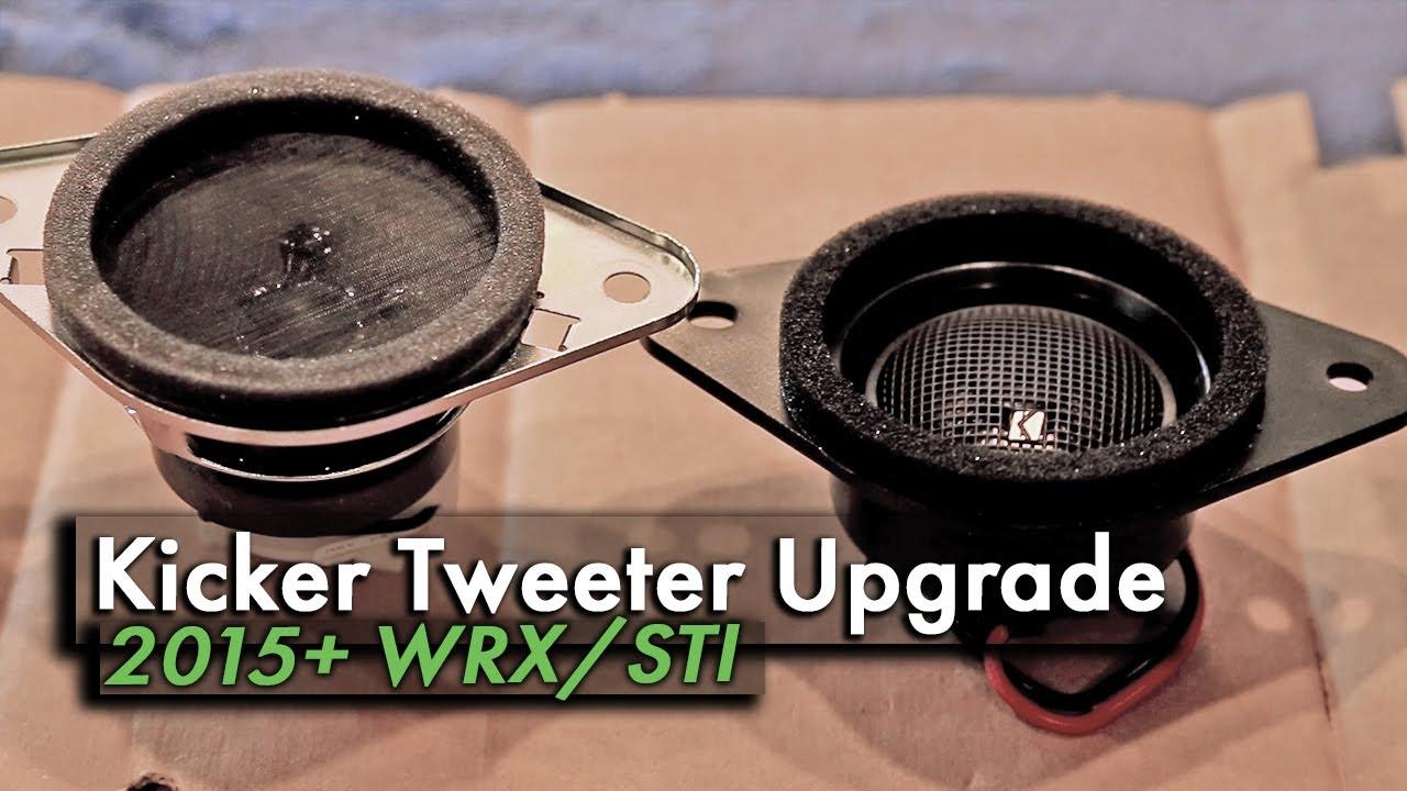How To Install Wrx Kicker Tweeters H631sfj101 Sound System Upgrade Pt3