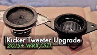wrx sound system upgrade part 3 kicker tweeters h631sfj101 installation