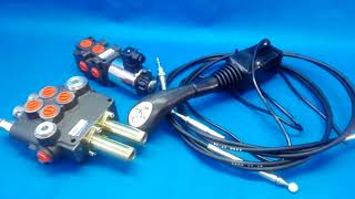 Hydraulic valve kit with joystick 3 function double acting for Kubota 80l/min 21GPM 12V video