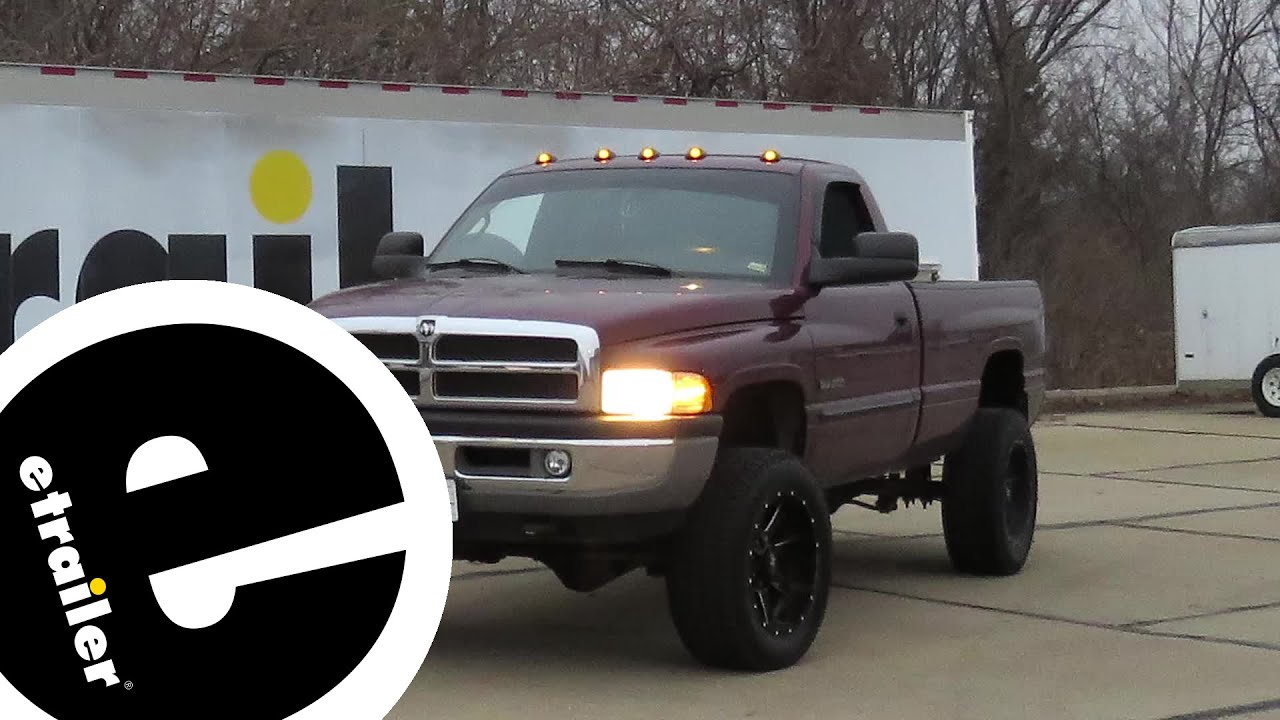 pacer performance hi five led truck cab lights installation 2001 dodge ram pickup etrailer com [ 1280 x 720 Pixel ]