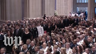 John McCain's memorial at the National Cathedral