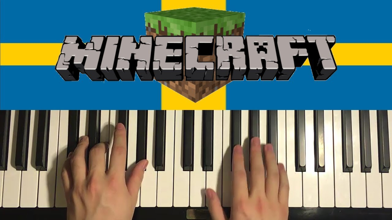 How To Play - Minecraft - Sweden (PIANO TUTORIAL LESSON)