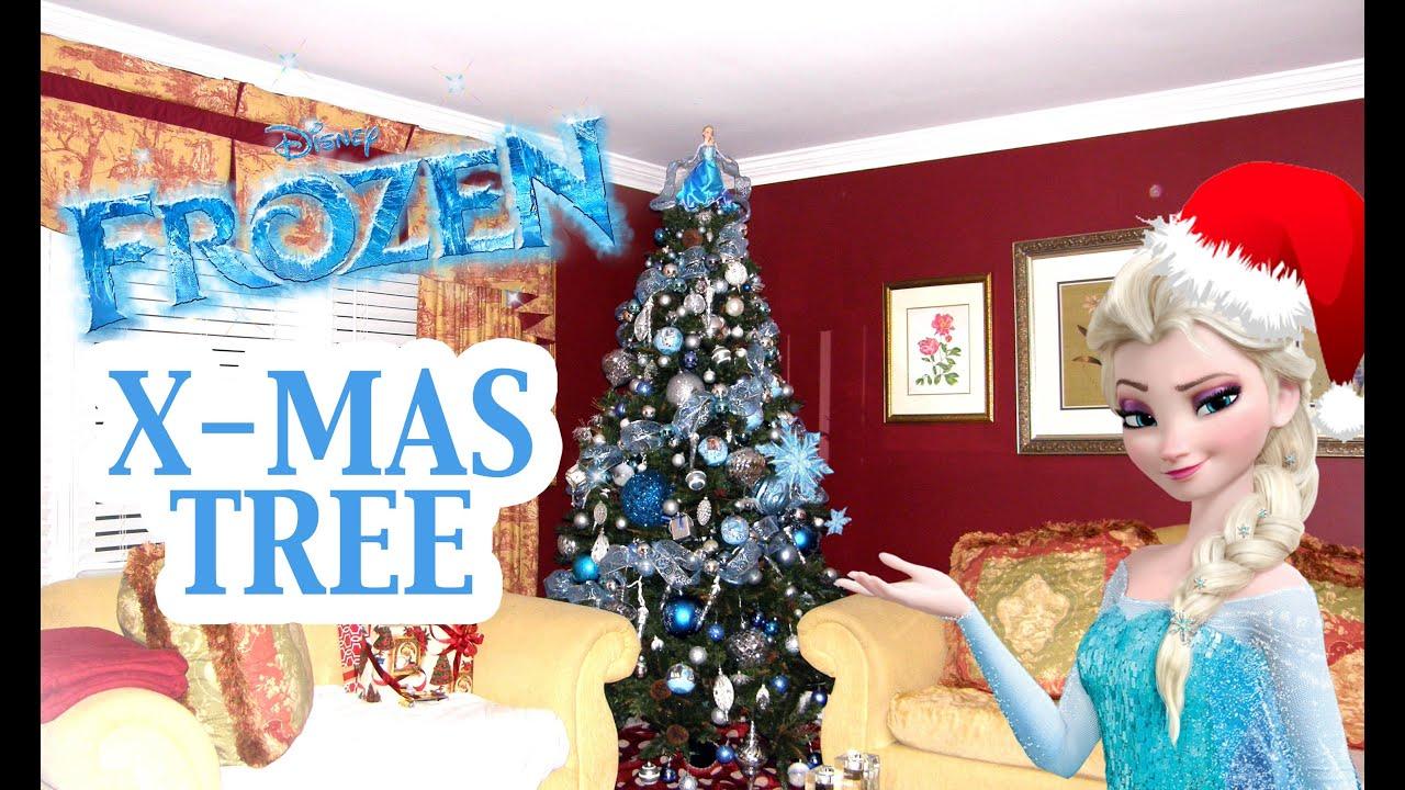 frozen themed christmas tree posha amour the miss amour show 2014 xmas youtube - Frozen Christmas Tree Ornaments