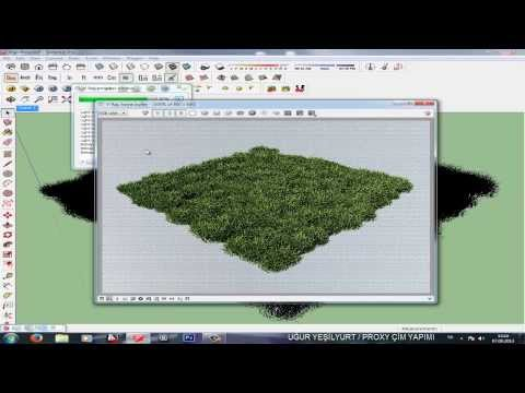 Sketchup Vray Proxy İle Çim Yapımı