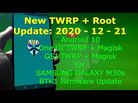 TWRP 3.4.0_9-0 Root Samsung Galaxy M30s SM-M307F BTK1 Firmware