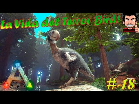 ARK Survival Evolved La vida del Terror Bird y DODO carreras | Play as dino mod gameplay español