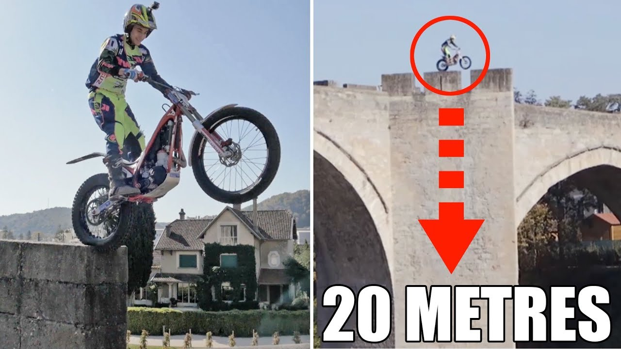 Defi Traverser Le Pont Du Diable En Moto Trial Feat Julien Perret