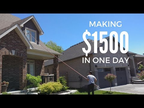 MAKING $1500 IN ONE DAY CLEANING WINDOWS | VLOG 9