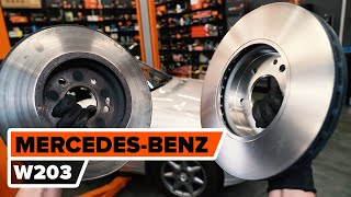 Instalación Juego de frenos de disco MERCEDES-BENZ C-CLASS (W203): vídeo gratis