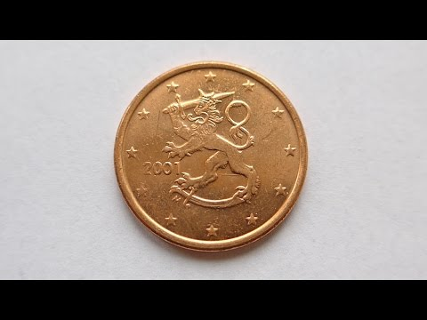 5 euro cent coin finland 2001 youtube. Black Bedroom Furniture Sets. Home Design Ideas