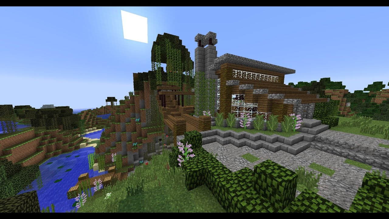 Small lake house vacation home minecraft house tour for Building a small lake