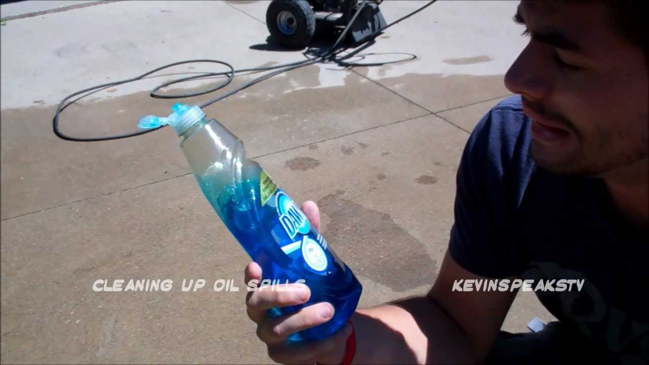 how to clean oil off your driveway youtube