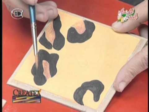 manualidades imitacion piel de leopardo youtube