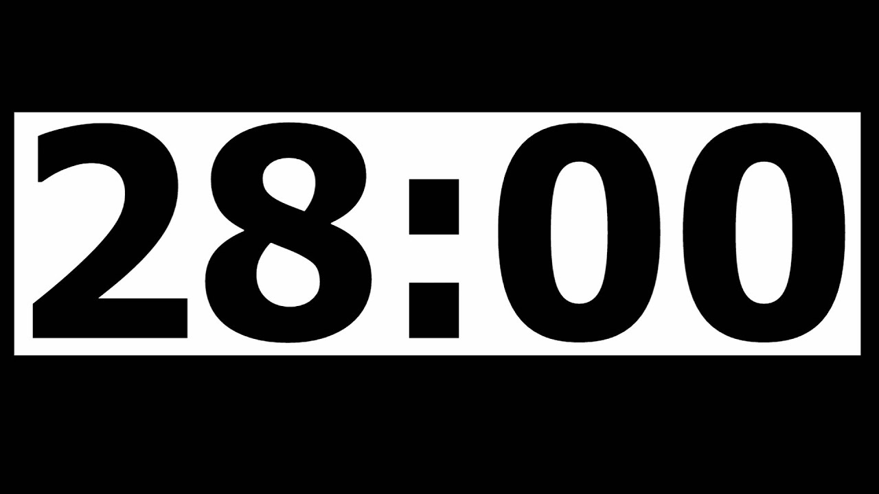 28 minute countdown timer with alarm youtube. Black Bedroom Furniture Sets. Home Design Ideas