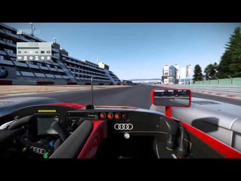 Project CARS audi R8 LMP 900 replay at nurburgring GP circuit