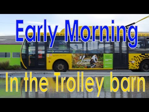 Early Morning Trolley Testing At Kilbirnie Depot (2017)