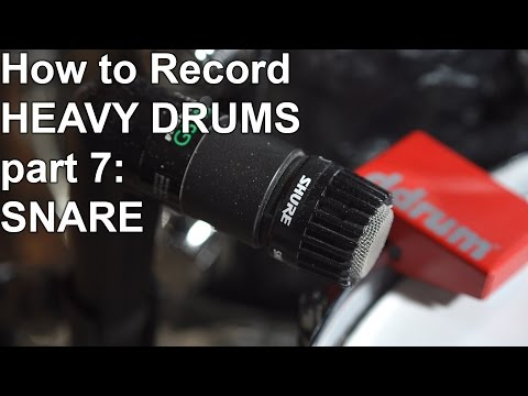 How to Record Heavy Drums Part 7 - SNARE | SpectreSoundStudios TUTORIAL