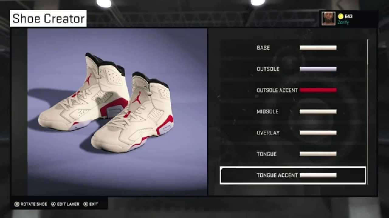 2a63d5b7a3e2 NBA 2K15 Shoe Creator - Air Jordan 6